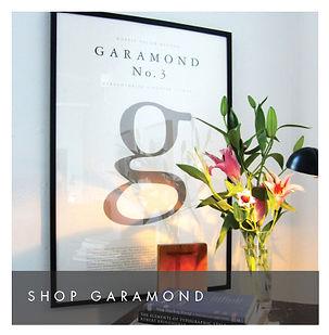 Garamond Poster