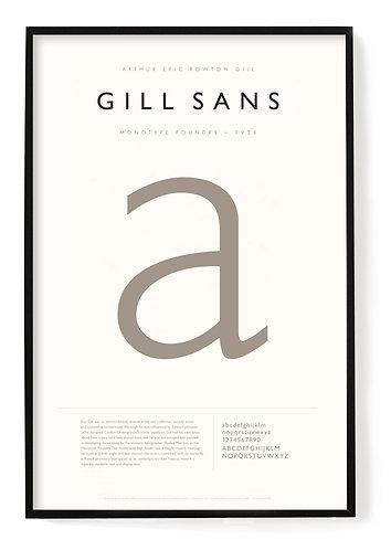 Gill Sans Poster 24 x 36
