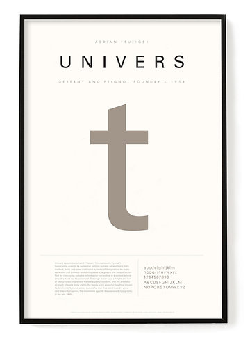 Univers Poster 24 x 36