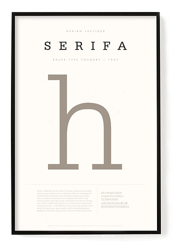 Serifa Poster 24 x 36