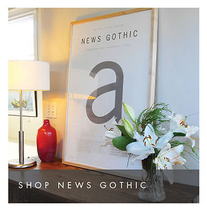 News Gothic Poster