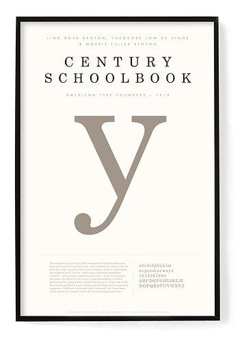 Century Schoolbook Poster  24 x 36