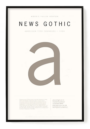 News Gothic Poster 24 x 36