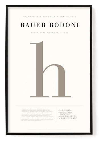 Bauer Bodoni Poster 24 x 36