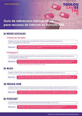 GUÍA DE REFERENCIAS BIBLIOGRÁFICAS EN FORMATO APA PARA RECURSOS DE INTERNET