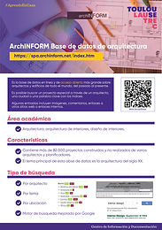 ARCHIFORM: BASE DE DATOS DE ARQUITECTURA DE ACCESO GRATUITO