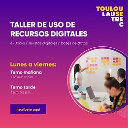 TALLER DE USO DE RECURSOS DIGITALES