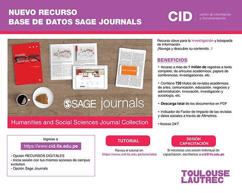 ¡CONOCE EL NUEVO RECURSO: BASE DE DATOS SAGE JOURNALS!