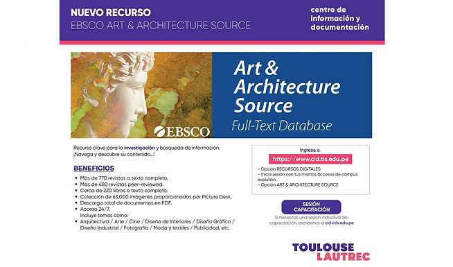 ¡CONOCE EL NUEVO RECURSO: BASE DE DATOS ART & ARCHITECTURE SOURCE!