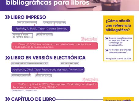 GUÍA APA DE REFERENCIAS BIBLIOGRÁFICAS PARA LIBROS