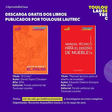 DESCARGA GRATIS DOS LIBROS PUBLICADOS POR TOULOUSE