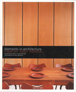 ELEMENTS IN ARCHITECTURE: ESPACIOS, SPAZI, ESPAÇOS