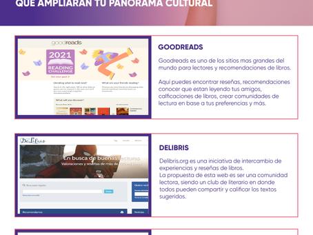 VISITA ESTAS WEBS CON RECOMENDACIONES DE LIBROS QUE AMPLIARÁN TU PANORAMA CULTURAL
