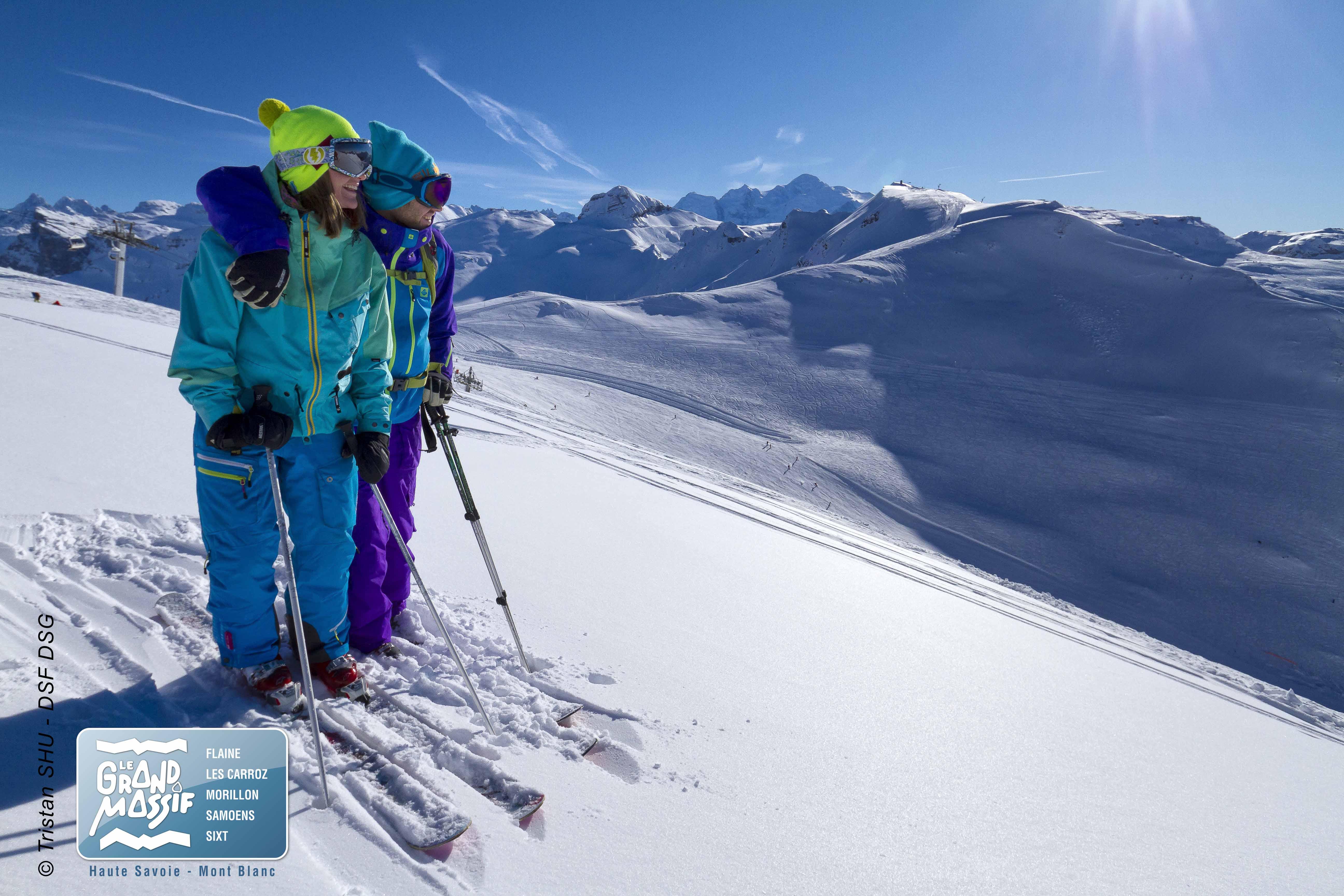 Ski sur le domaine du Grand Massif