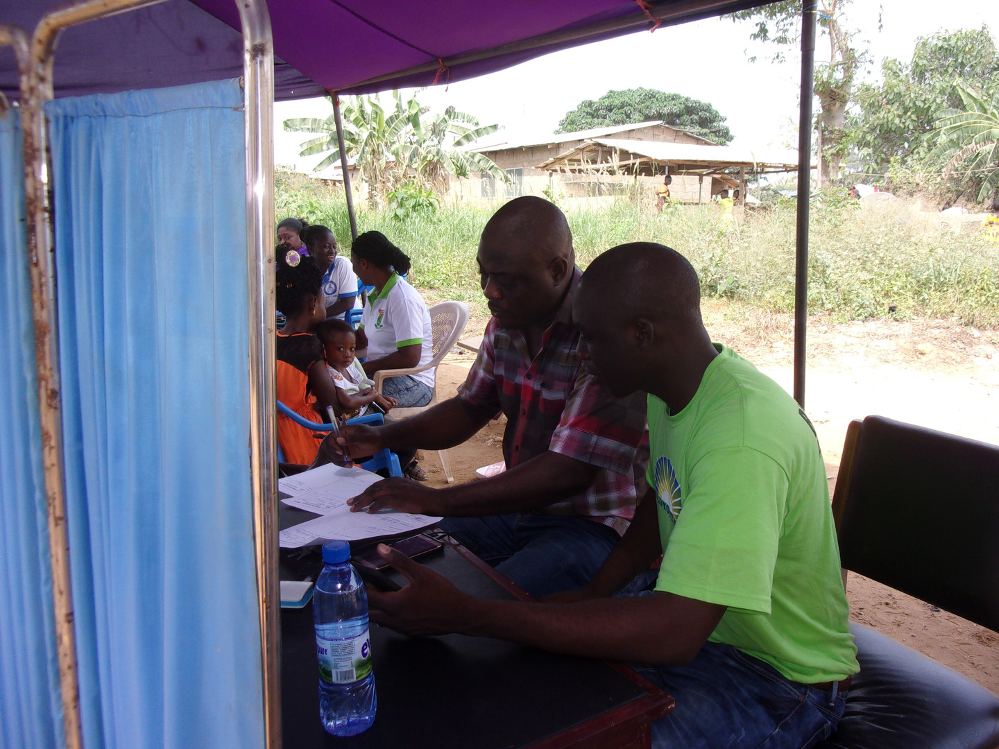 Volunteers at Medical Clinic