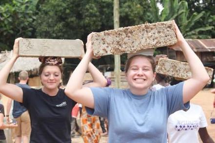 Carrying Bricks Ghanaian Style