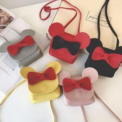 Cartoon Girl Handbag Children Wallet Small Coin Purse Box Bag Cute Mouse Bow pet Shoulder little gir