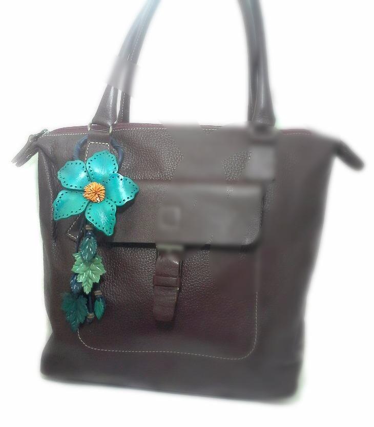 Leather Flower Hanging Bag