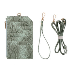 Wholesale 2020 New Design Zipper Snake Card Purse Good Quality Python Pattern Slim Mobile Phone Bags