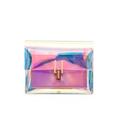 New fashion ladies luxury holographic handbag jelly cheap designer purses handbags pvc clear jelly p
