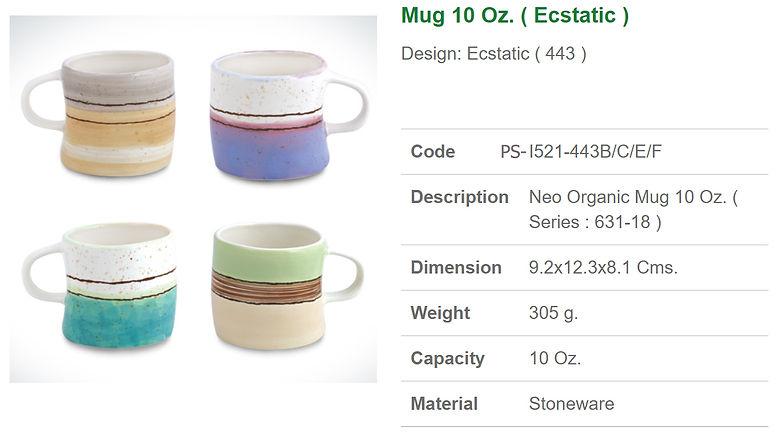 Ceramic Mug 10 Oz. Ecstatic