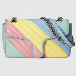 Silver Button Women Designer Bags Milan Fashion Show Luxury Woman Shoulder Bags Size 10x6x3inch Mode
