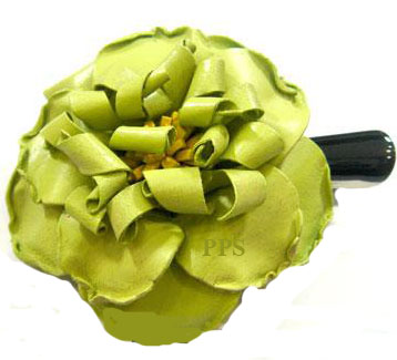 Leather Flower for hair Clips-g6