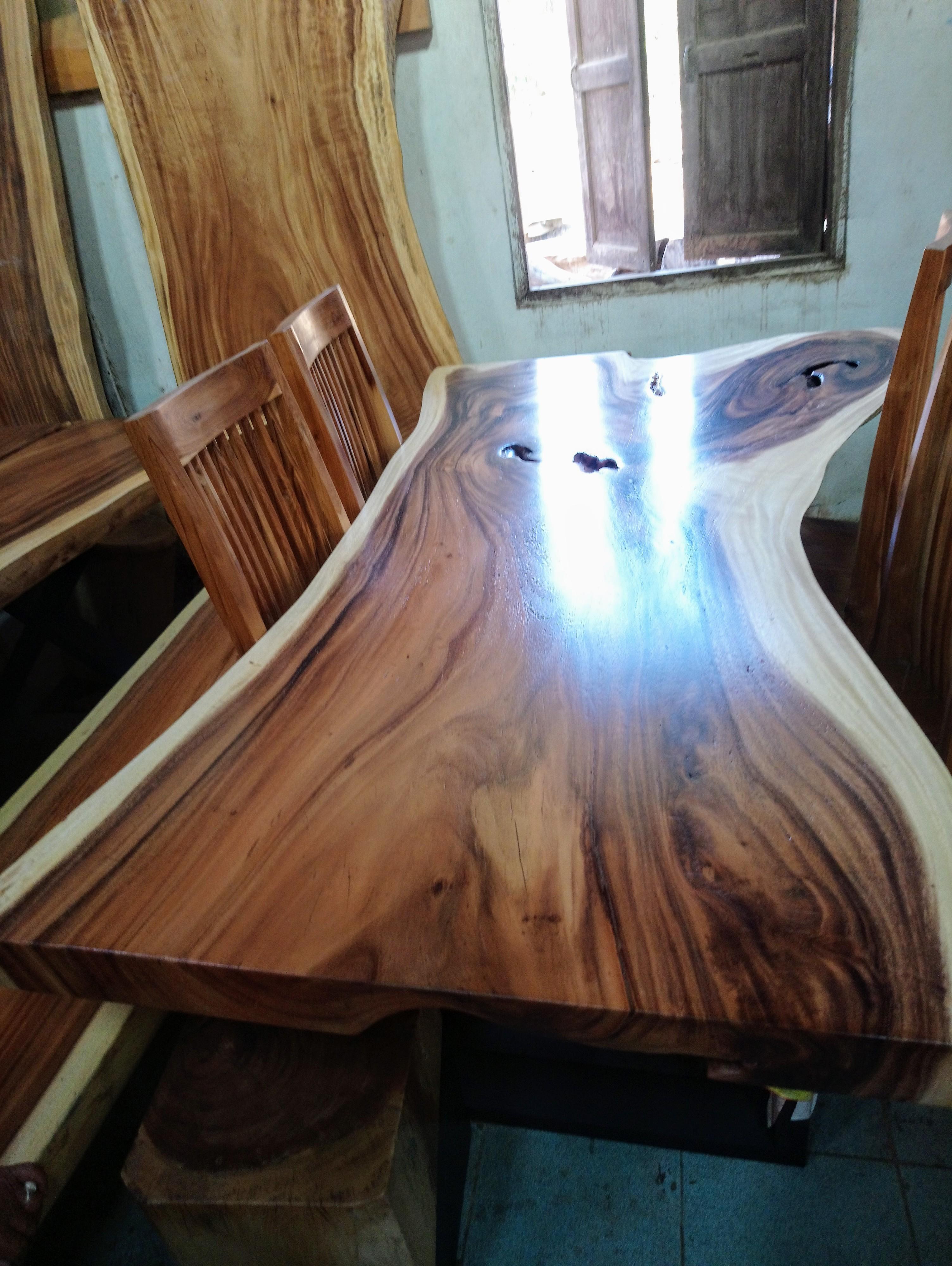 Large Rain Tree Wood Table 1594