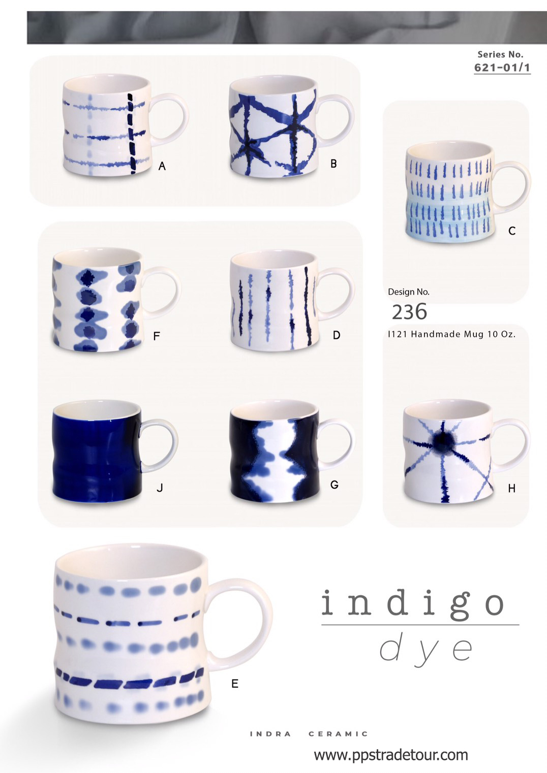 Indigo Dye-Ceramic Mug 10 Oz.