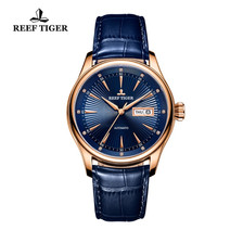 Reef Tiger Classic Dress Brand Watches with Date Day Rose Gold Automatic Watch For Men RGA8232