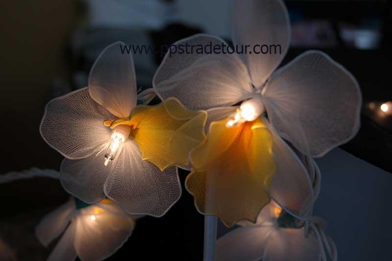 Nylon flower string lights-10