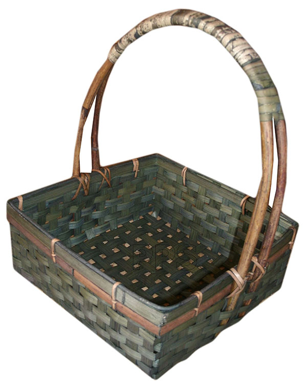 Square Bamboo basket with handle