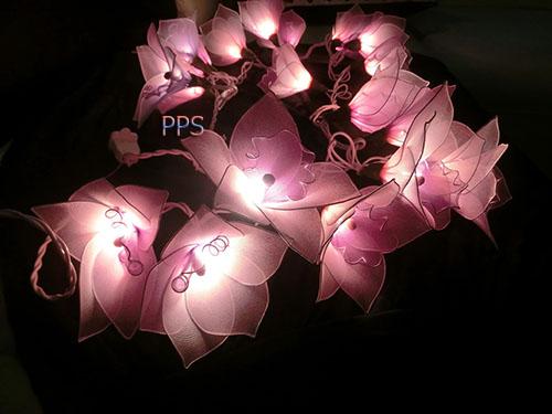 Nylon flower string lights-15