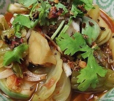 ยำผักกาดดอง-Yum Pakkhad Dong