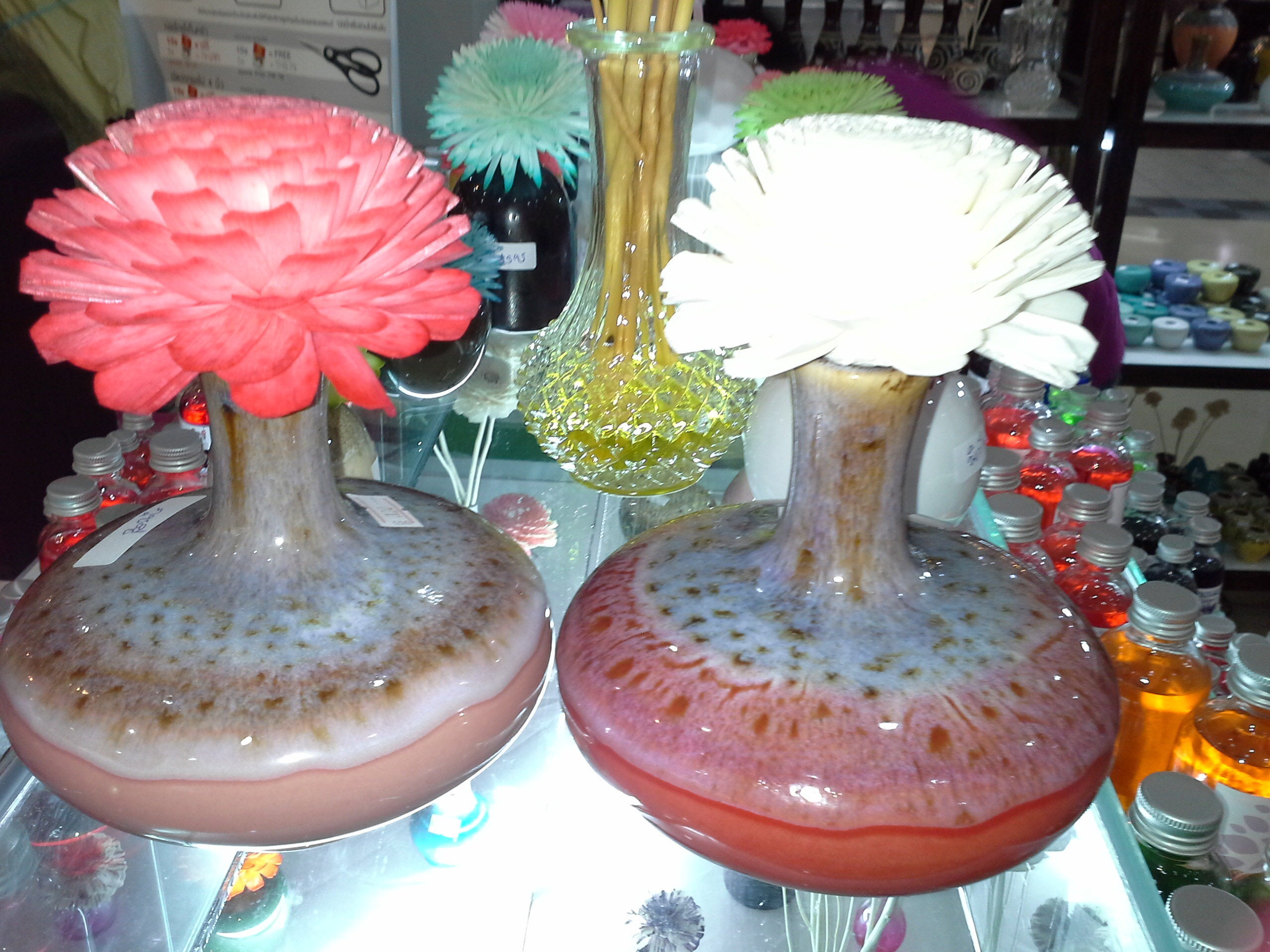 diffusers with flowers