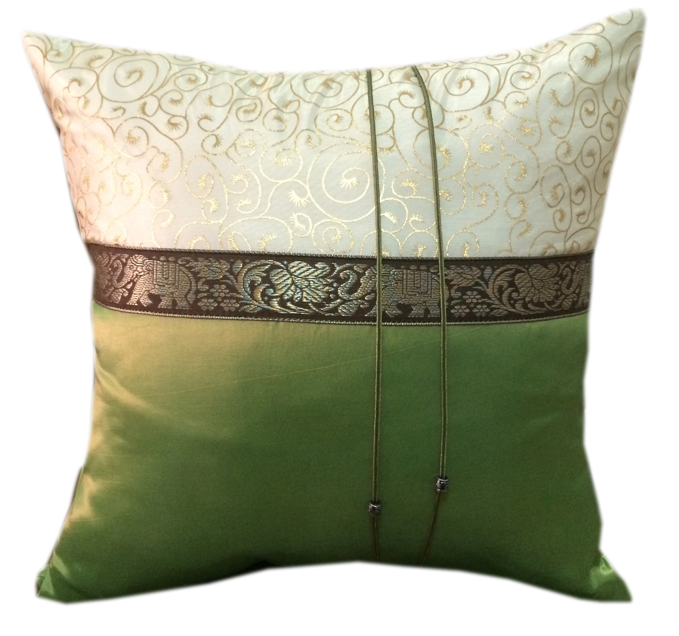 Cushion Pillow Case_GreenGold
