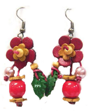 Leather Flower for Earring-e4