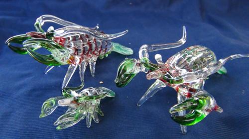 blown glass- shrimp