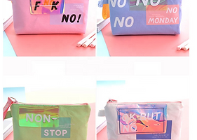 PVC Clear Holographic Makeup Bag for Wom