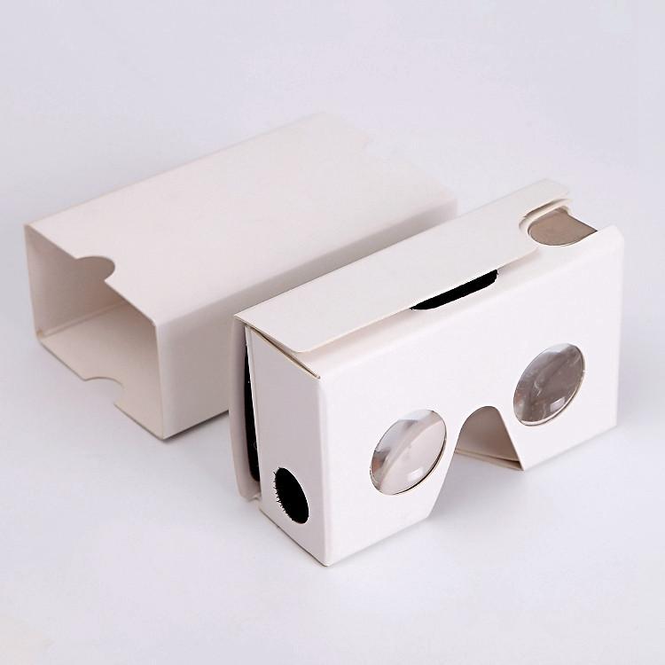 Custom Branded Google Cardboard V2 VR Glasses Cardboard Reader Viewer Low Price Virtual Reality For Marketing
