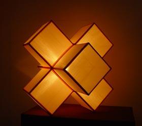 Silk Lamp big cube shape