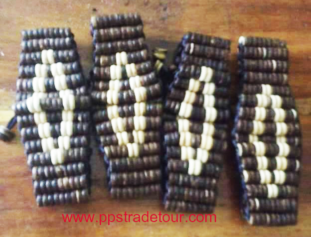 Coconut shell bead bracelet-2