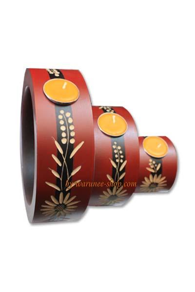Wood candle holder-WHC-11