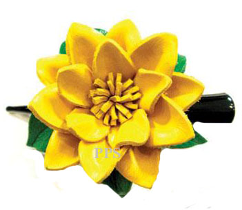 Leather Flower for hair Clips-g3