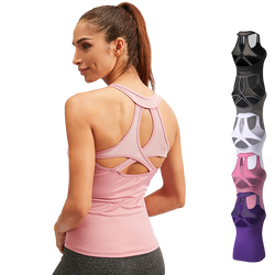 Quick Dry Women Yoga Tank Top Gym Fitness Sport Running Athletic Sexy Womens Workout Tank Tops T Shi