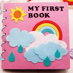 kids educational toys custom novelty creative rainbow craft kits DIY loose-leaf polyester felt my quiet book for girls and boys