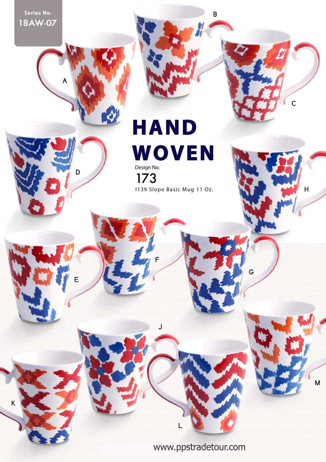 Hand Woven-Ceramic Mug 11 Oz.