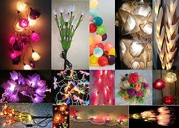 ball lights, sola flower lights, handmade lights