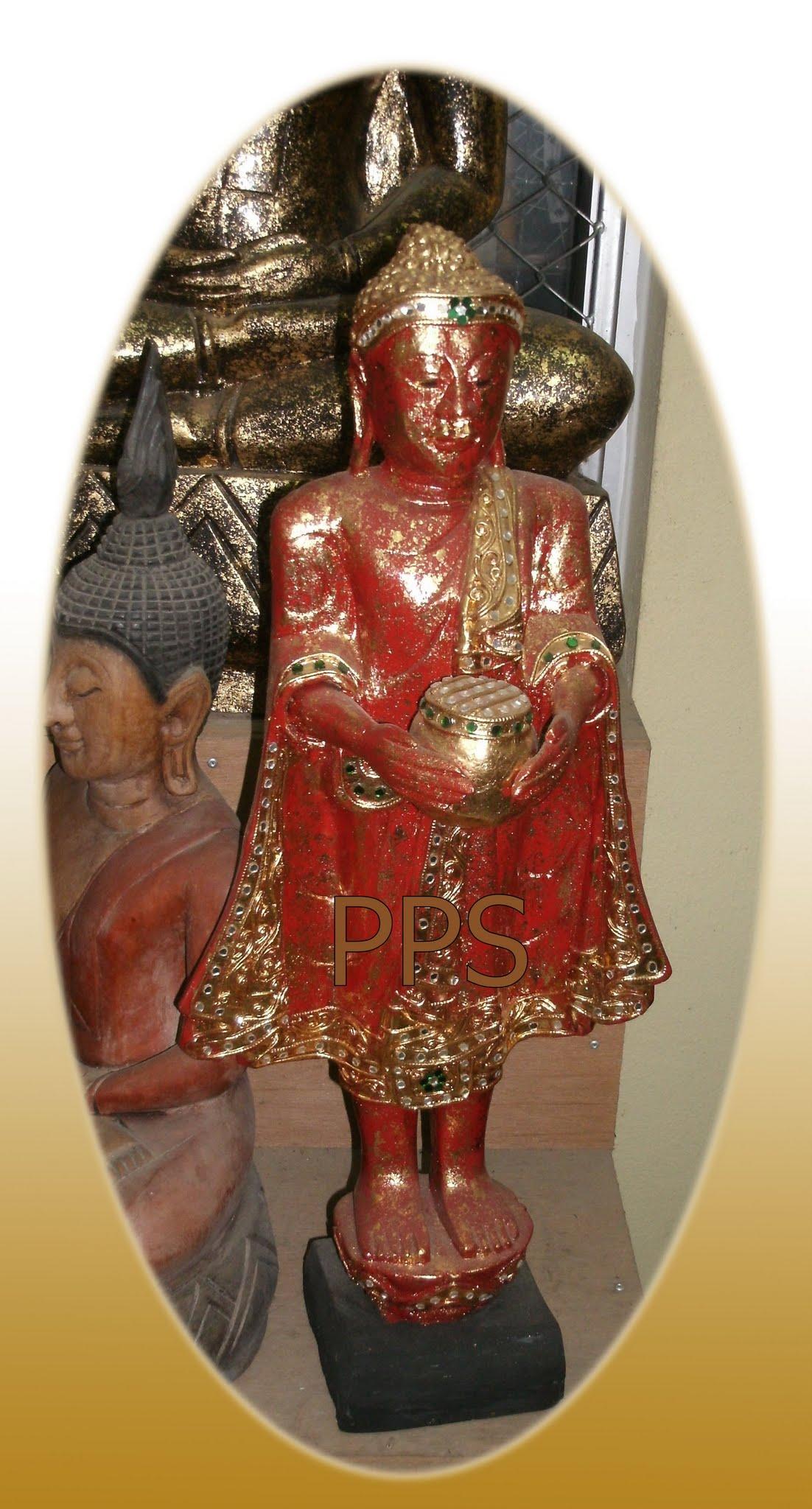 Wood Buddha Image C4466-1