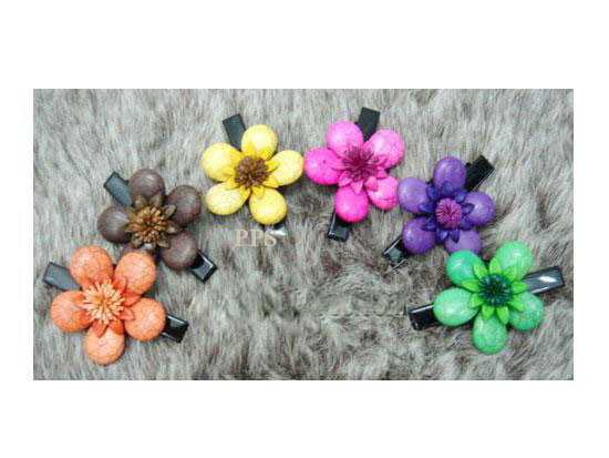 Leather Flower for hair Clips-g2